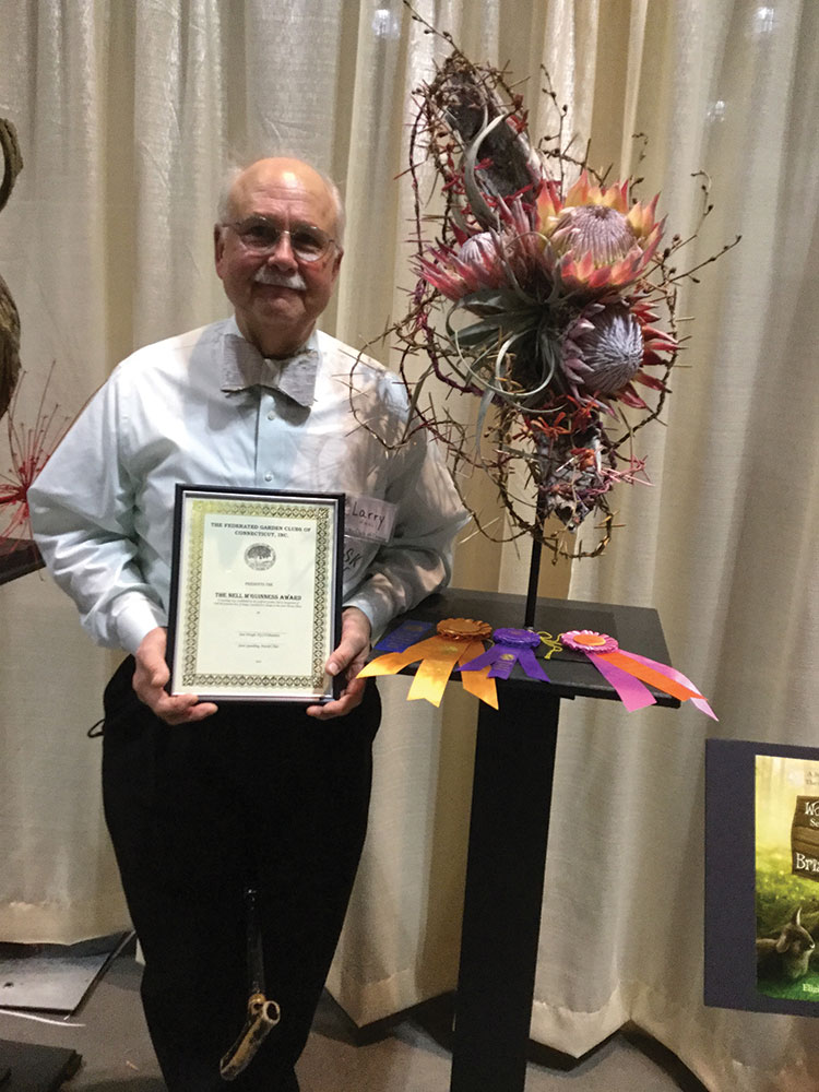 Larry Huzi Swept Awards at CT Flower & Garden Show