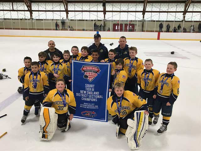 CT RiverHawks Squirt A Team Wins Regional Championship Title