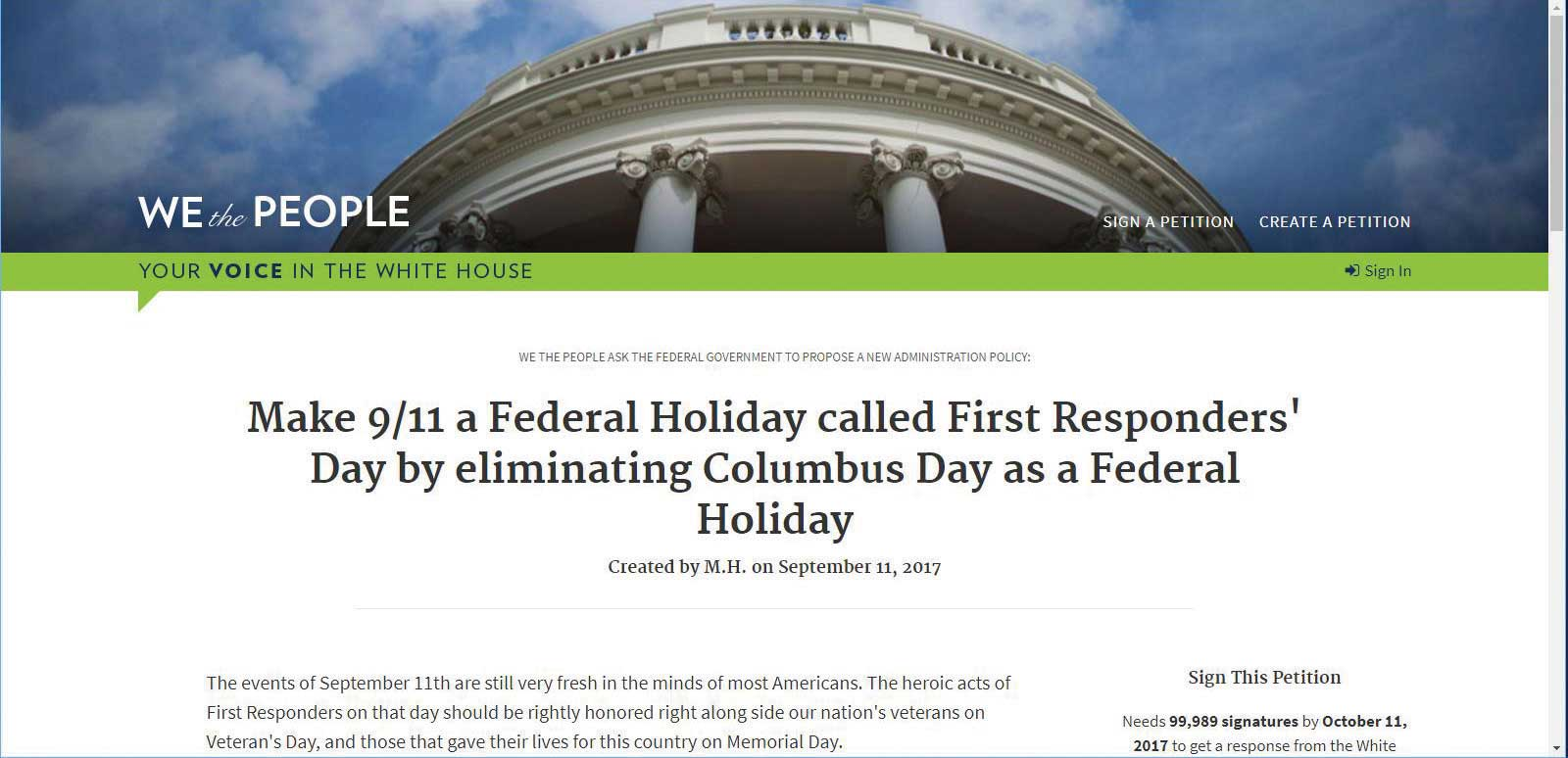 Orange Resident Wants to Swap 'First Responder's Day' for Columbus Day