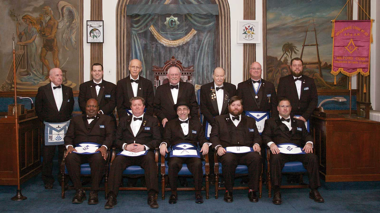 Milford Masonic Lodge Installs New Officers for 2018
