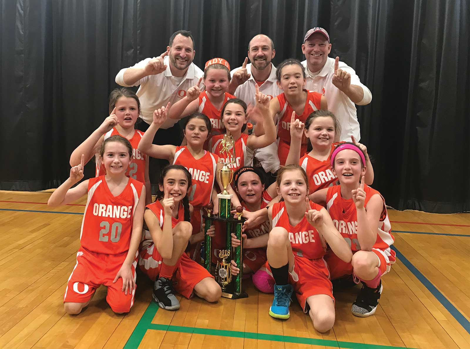 Lady Orange Grade 4 Team Win Milford Knights Post Season Tournament
