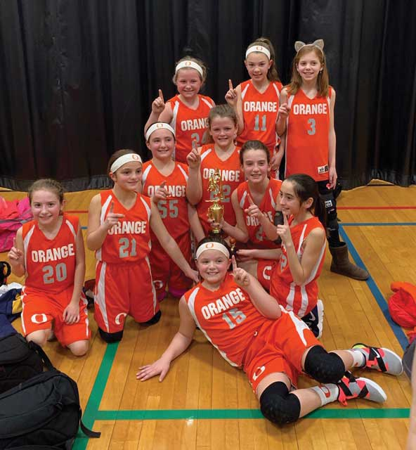 Holy Infant Lady Orange Grade 5 Girls Basketball Team Capture Championship