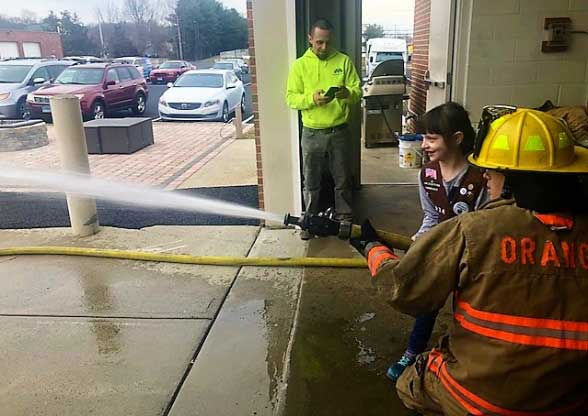 Orange Girl Scouts Visit Fire Station To Learn About Firefighters, Safety