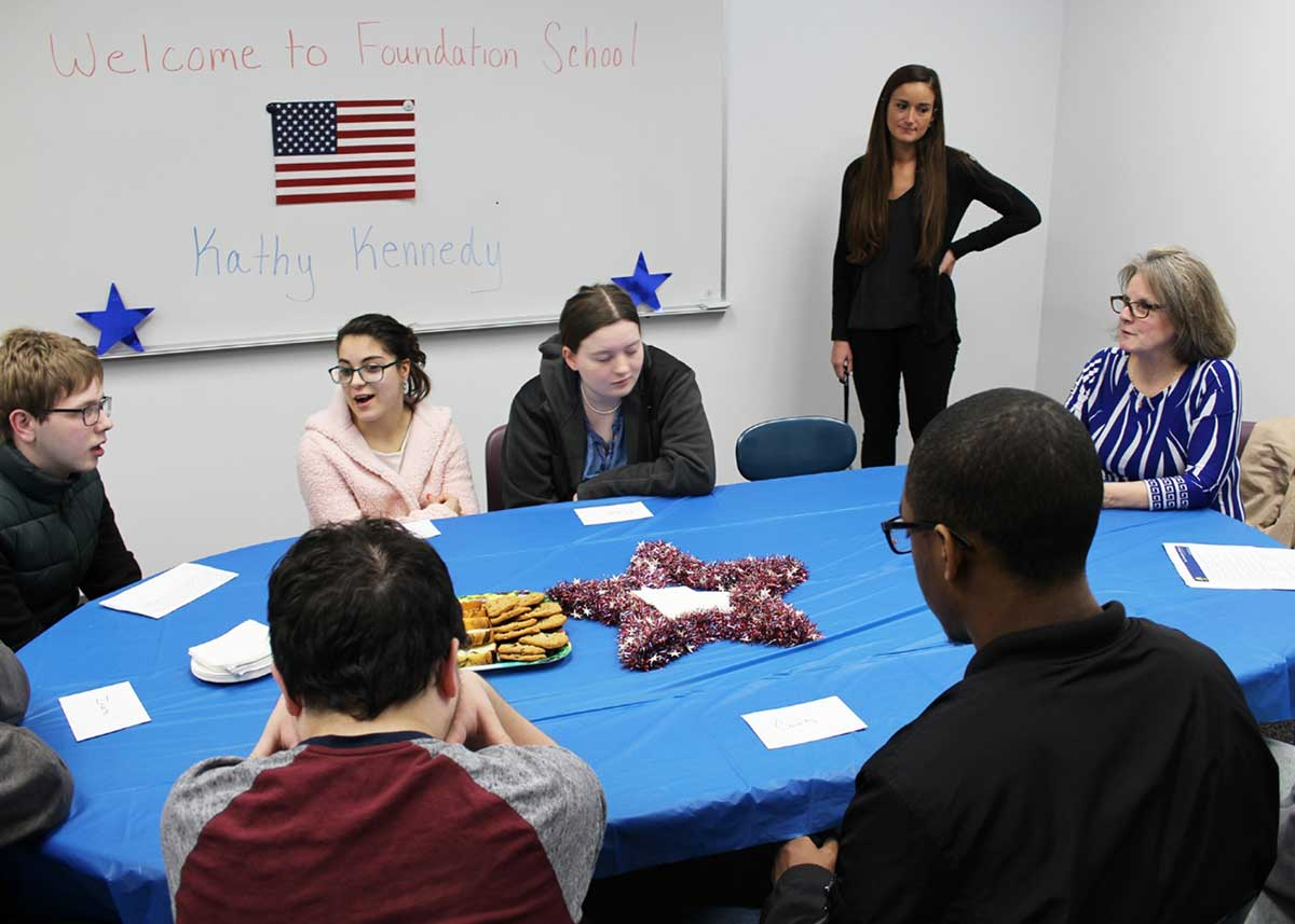 Kennedy Tours & Speaks With Foundation School Students
