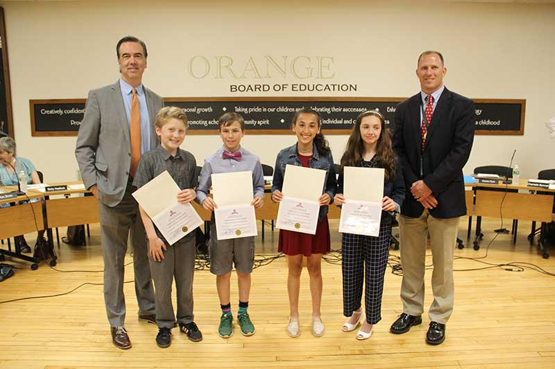 Race Brook Students Receive Superintendents Award