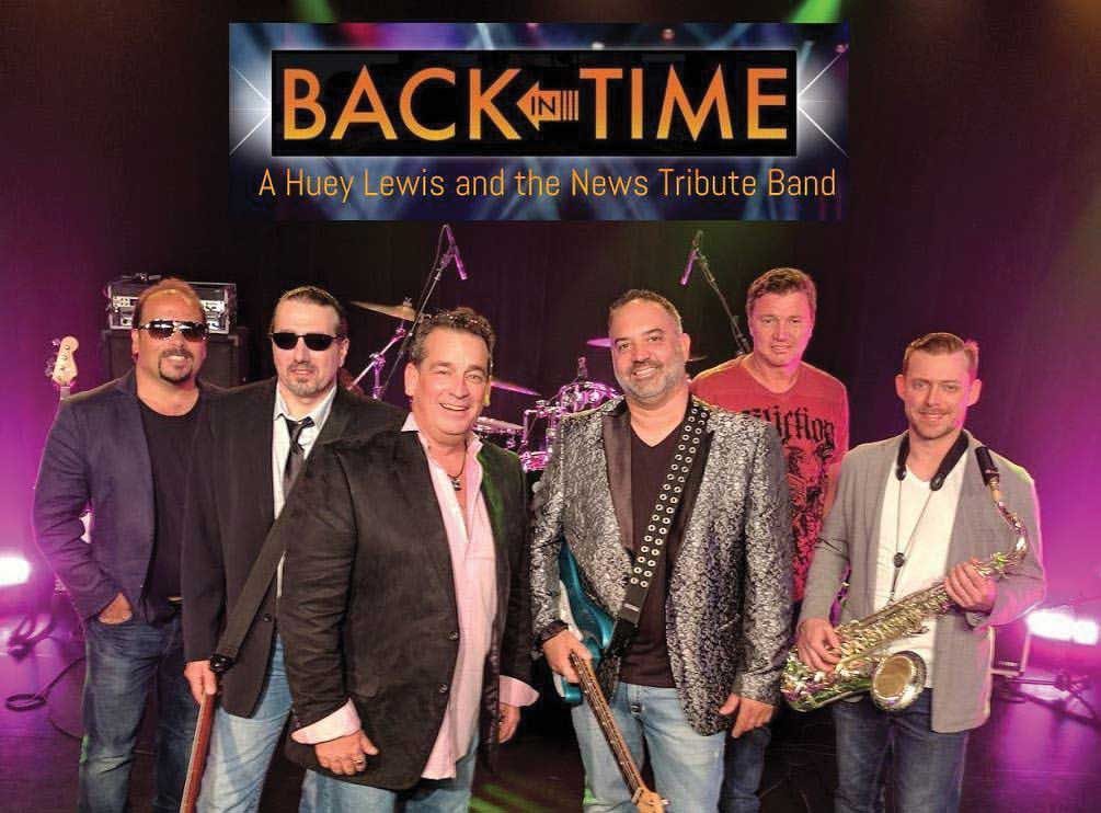 Town Concert & Fireworks Show on Friday, July 5th: Back in Time – A Tribute to Huey Lewis and the News Featured Performers