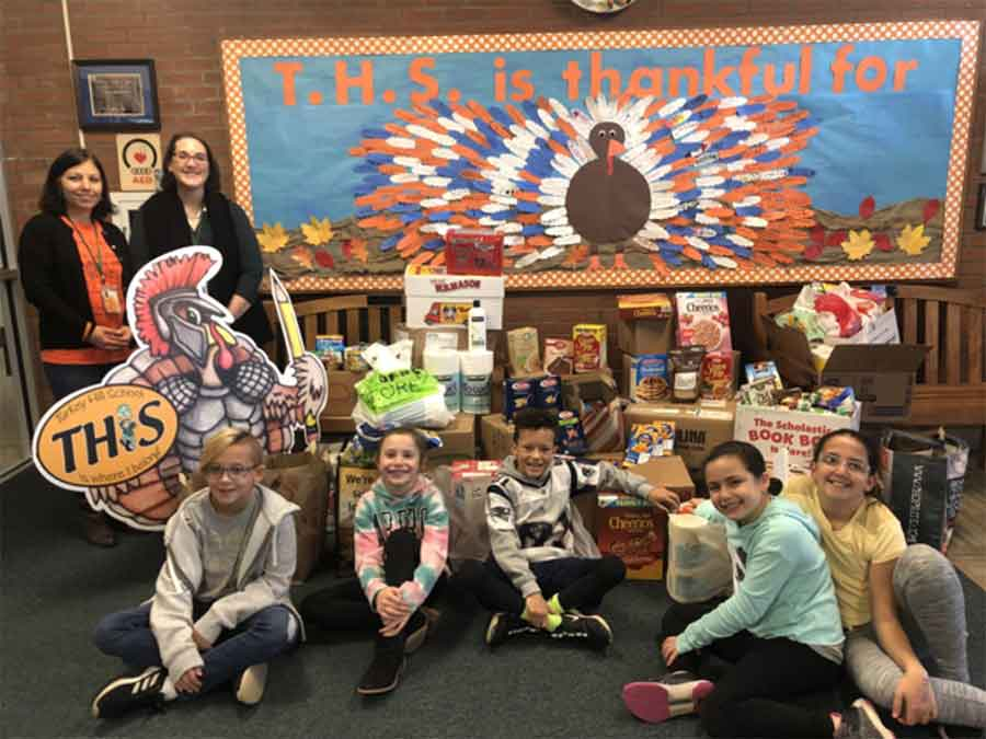 Turkey Hill School Supports the Orange Food Bank
